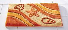 BADEMATTE terra-orange-beige 2tlg. BAD-GARNITUR ~ DUSCHMATTE NEU