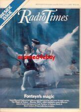 MARGOT FONTEYN interv/w COVER 1979 RUDOLPH NUREYEV