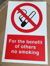 Señal de prohibición-en beneficio de otros signos de seguridad no fumar - 300x200mm
