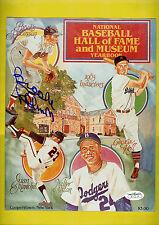 Brooks Robinson Autographed Photo National Baseball Hall of Fame Cover Spence
