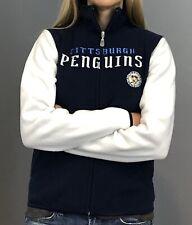 Pittsburgh Penguins Women's Jacket - Reebok Navy Blue Microfleece (4 sizes)
