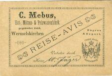 Wermelskirchen, Vertreterankündigung, C. Mebus, 1902