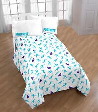 Fortnite Boogie Bedding Sheet Set Twin Or Full Size + Pillow Cases Gamer Gift