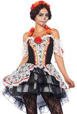 Sexy Spanish dress Sugar skull Leg Avenue costume set