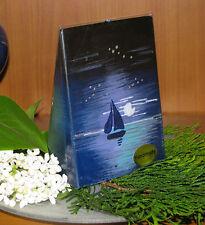 Romantik/Maritim*Design-Kerze*Segelboot im Mondschein-verschiedene Formen/Größen