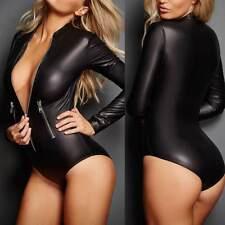 camicia camicetta da donna body maglietta ecco pelle nero comodo casual