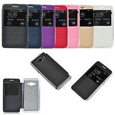 % S-view FLIP Tasche für Verschiedene Handy Case Leder-Imitat Etui Cover LD