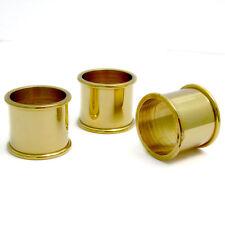 3 Beaded Brass Collars for Walking Stick Making Stickmaking 22mm - 27mm diameter