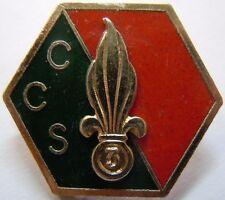 Insigne LÉGION ÉTRANGÈRE ORIGINAL 3° REI CCS Guyane émail numéroté Drago (FFL)