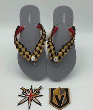 Vegas Golden Knights Hockey inspired Custom Flip Flops - Silver Old Navy