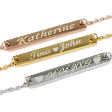 Personalized Rose Gold Name Bar Bracelet for Best Friend Bracelets for Woman