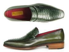 Paul Parkman Men's Loafer Green Genuine Python and Green Calfskin (ID#23K38)