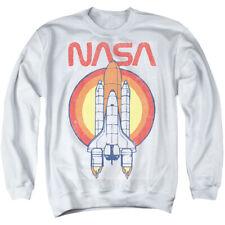 NASA Sweatshirt Vintage Space Shuttle White Pullover