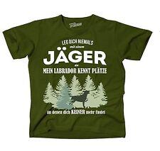 T-Shirt OLIVE JÄGER LABRADOR HUND HUNDE KENNT Plätze JAGD  findet Siviwonder