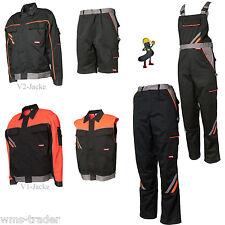 Pantaloni da lavoro Giacca arbeitsshort Gilet Salopette nero/Arancione K