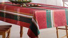 NWT, St Nicholas Christmas Traditions Plaid Tablecloth