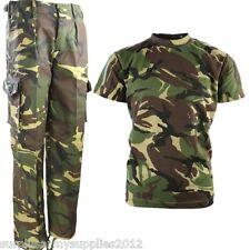 Garçons Soldat Armée COSTUME ENFANTS 3-13 ANS PANTALON T-SHIRT déguisement