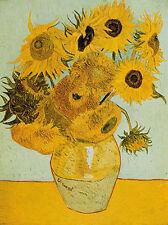 Vincent van Gogh: Sunflowers Keilrahmen-Bild Leinwand Sonnenblumen Blumen
