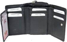 Genuine Leather Ladies Medium RFID Trifold 12 Card & 1 ID Wallet #7601R CAN