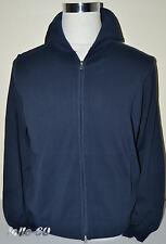 MAGLIA UOMO giacca aperta zip 100% cotone M L XL XXL 3XL blu MADE IN ITALY
