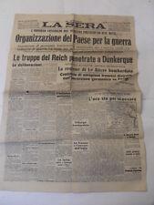 """IL SECOLO LA SERA 4 GIUGNO 1940"""" ORGANIZZAZIONE DEL PAESE PER LA GUERRA"""""""