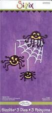 Sizzix Sizzlits SPIDER SET Halloween Web & 3 Spiders