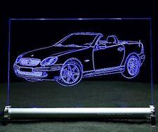 LED-Leuchtschild graviert ist  SLK R170  AutoGravur Roadster