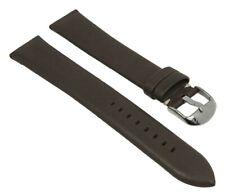 Minott Uhrenarmband XL Leder glatt ohne Naht gepolstert braun 28188