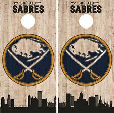Buffalo Sabres Cornhole Wrap Nhl Game City Skylin 00004000 e Skin Vinyl Decal Co888