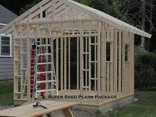 Custom Design Shed Plans, 6x8 Gable Storage, DIY Instructions and Blueprints