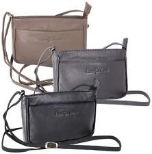 Damen Handtasche 100% Echt Leder Umhängetasche Schultertasche Klein 3 Farben