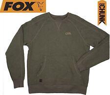 Fox Chunk Crew Pouch Sweatshirt Green Marl Pullover, Angelbekleidung
