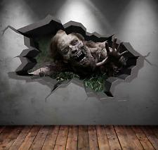 3D MULTI COLOR ZOMBIE DEAD WALKING WALL ART STICKER DECAL MURAL TRANSFER WSD1