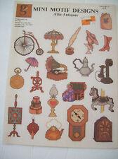 Mini Motif Designs Attic Antiques Cross Stitch Leaflet No 19 Pattern Clock Horse