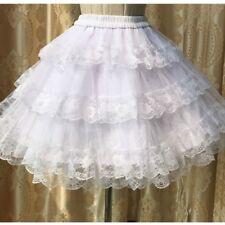 Lolita Lady Crinoline Skirt Petticoat Underskirt Tutu Ruffle Swing Vintage Lace