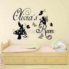 Personalised Girls Bedroom Nursery Wall Sticker Fairy Vinyl Wall Art Decals