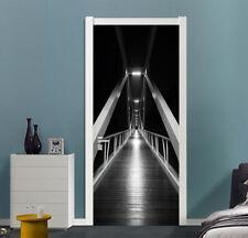 3D Night Lamp Bridge 47 Door Wall Mural Photo Wall Sticker Decal AJ WALLPAPER CA