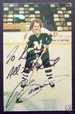 Ron Zanussi Minnesota North Stars Signed Card Postcard