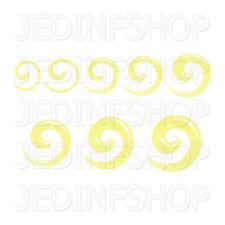 Ear Taper Lobe Stretcher Spiral Snail | 1.6mm-10mm | Yellow Transparent Acrylic
