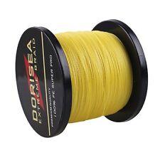 1000M 500M 300M 100M Agepoch Yellow Power Dyneema Dorisea Braided Fishing Line