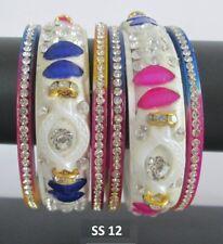 Indian Bridal Wedding Jewelry Traditional Choora Multicolor Bangles Bracelet Set