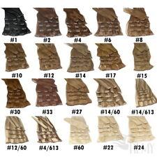 8 teilige Clip In Extensions 100g Echthaar Haarverlängerung 40cm 45cm 60cm Haare
