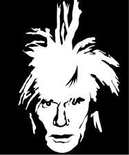 Andy Warhol vinyl decal sticker artist art contemporary modern pop factory