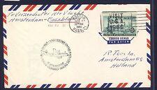 46719) KLM FF Amsterdam - Casablanca 5.11.60, Brief (RR!) ab USA etwas bügig