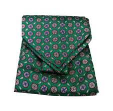 Ascot seta uomo verde foulard cashecol e possibile fazzoletto da tasca abbinato