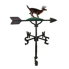"""32"""" Roof mount Weathervane BUCK Deer Antlers Arrow Directionals New 4 finishes"""