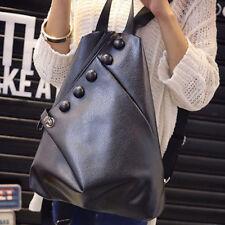 Fashion Casual Backpack Rucksack School Bookbag Casual Travel Black Bag 2018 NEW