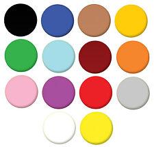 Plain Coloured Colours Pin Button Badge Magnet Keyring Bottle Opener Mirror