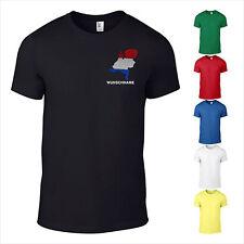 T-Shirt Holland Niederlande NL Land Wunschame bestickt Flagge 3D Nederland S-XXL