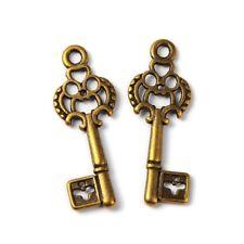 Skeleton Key Charms Pendants Antiqued Bronze Ornate Keys-25pcs 50pcs 100pcs